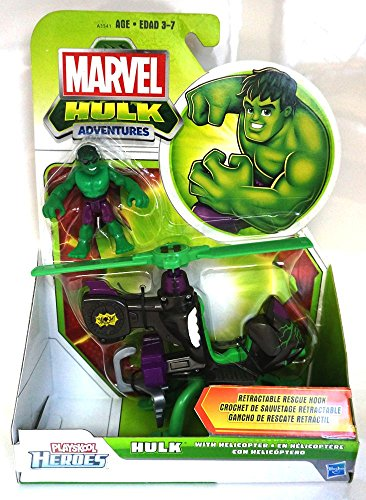 Marvel Playskool Super Hero Adventures Vehicle Hulk with Helicopter - 1