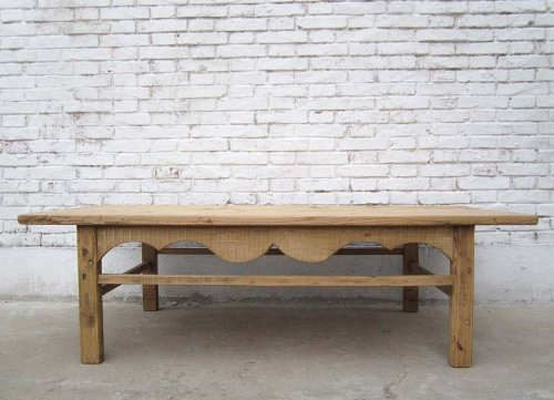Shandong to 1890 China Large Classic Low Table Elm Wood Natural