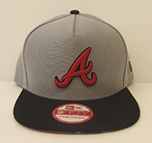 Atlanta Braves Retro New Era Tropicus Strapback Snapback Style Cap Hat Grey