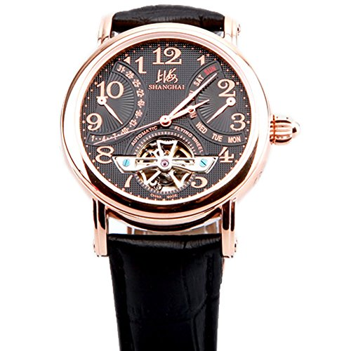 Luxury Brand Shanghai Rose Gold Cover Date Day Flywheel Automatic Mechanical Men'S Wrist Watches