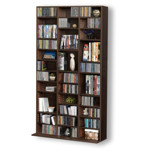 1116 CD/528 DVD Storage Shelf Rack Unit Adjustable Book Bluray Video Games(Brown) Black Friday & Cyber Monday 2014