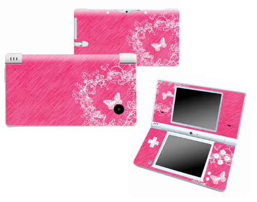 Bundle Monster Nintendo Ndsi Dsi Nds Ds i Vinyl Game Skin Case Art Decal Cover Sticker Protector Accessories - Pink Butterfly