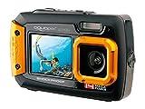 aquapix 14MP水中デジタルカメラ、デュアルスクリーン、3メートル防水、耐衝撃、ブラック