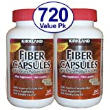 720 Ct Fiber Capsules Kirkland Therapy for Regularity/Fiber Supplement - Compare to the Active Ingredient in Metamucil...