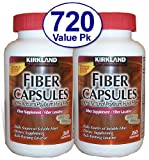 720 Ct Fiber Capsules Kirkland Therapy for Regularity/Fiber Supplement - Compare to the Active Ingredient in Metamucil Capsules