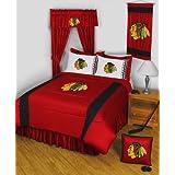 NHL Chicago Blackhawks 3pc Queen-Full Bed Comforter Set
