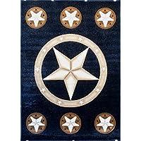 Texas Lone Star Area Rug Design Skinz 78 Black