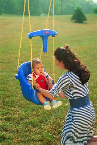 Little tikes high backed toddler swing ebay for Baby garden swing amazon