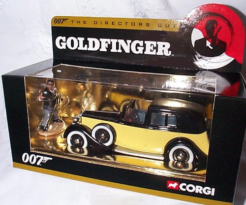corgi james bond 007 the directors cut goldfinger rolls royce car with oddjob figure 1.36 scale diecast model