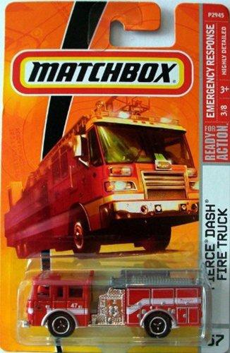 Matchbox Emergency Series Pierce Dash Fire Truck Red Detailed Diecast #57 Scale 1/64 Collector