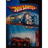 Hot Wheels 2005 First Editions Blings #3 LBling 5-spoke Wheels Collector Car