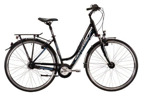 Corratec Damen Fahrrad Trekking 8 Speed, Schwarz/Weiß/Blau, 48, BK17096-0048