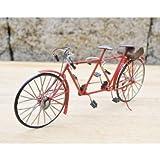 クラシックなミニチュア 自転車 アンティーク仕上げ 置物