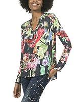 Desigual Camisa Mujer (Multicolor)