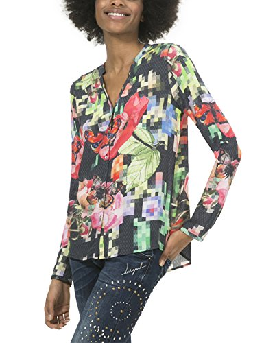 Desigual Cam_Nati, Camicia Donna, Verde (Verde Elisa 4054), 42 (Taglia Produttore: XXL)
