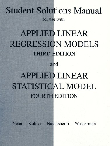 Study Guide for Use with Applied Linear Statistical Models with 350 Disk