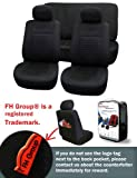 FH-FB060112 Trendy Elegance Car Seat Covers, Airbag compatible and Split Bench, Black color