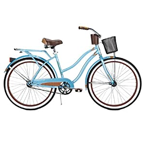 Huffy Women's Ocean Deluxe Bike (Blue Metallic, Large/26-Inch)