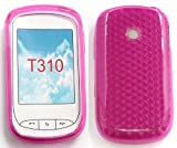 FLASH SUPERSTORE LG T310 COOKIE STYLE HEXAGON PATTERN GEL SKIN COVER/CASE HOT PINK