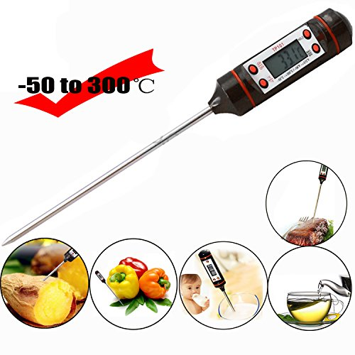 Gosear® Digital cuisson alimentaire sonde viande BBQ sélectionnable thermomètre cuisine cuisine outil avec Hang corde paquet noir