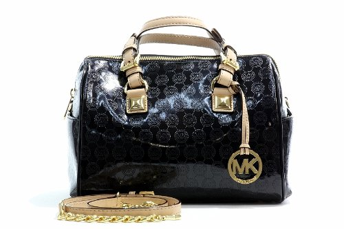 Michael Kors Women's Grayson Satchel Black Handbag