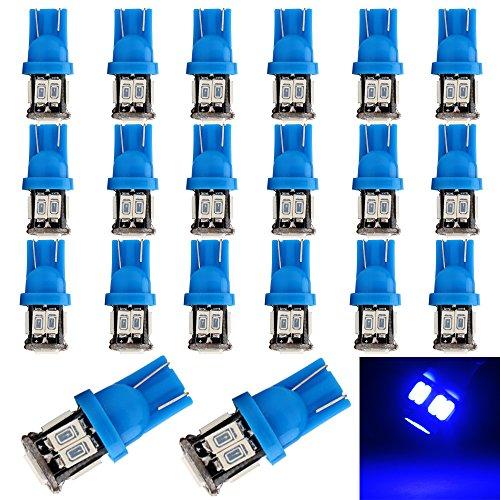EverBrightt 20-Pack Blue T10 5630 10SMD LED Interior Lights Auto Car Side Marker Light DC 12V (Cab Light Fixture compare prices)