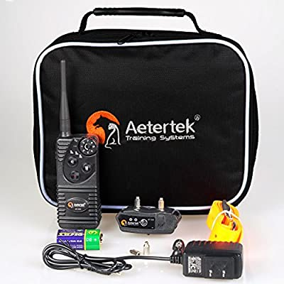 Aetertek At-216s-1 Submersible Dog Trainer 550m (600 Yards ) Remote Control Shock Collar Pet Dog Electric Shock Trainer Control 1 Dog Training No Bark Shock Collar, Rechargeable Dog Bark Collar Receiver