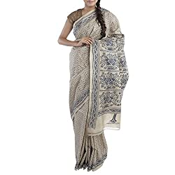 Kiara Crafts Tussar Silk Saree (kc-041_Beige)