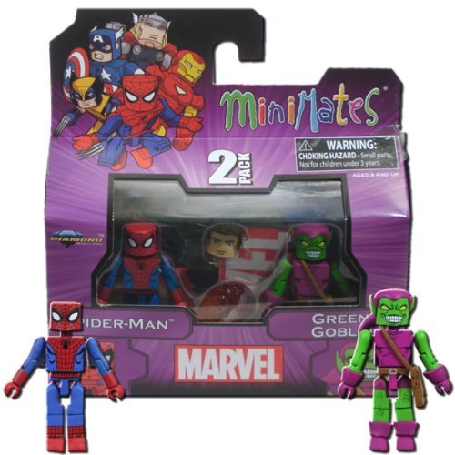 MiniMates: Marvel Best of Series 1 Spider-Man and Green Goblin Mini Figure 2-pk by Diamond Select (Marvel Minimates Green Goblin compare prices)