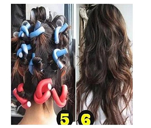 Homegifts Hairstyle Foam Curler Tool Spiral Hair Bendable