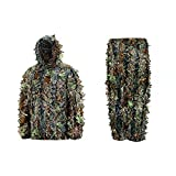 Outdoor SLT Mens 3D Leafy Hooded Camouflage Hunting Suit