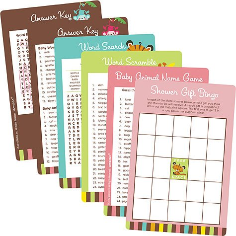 printable baby shower games word scramble:Fisher Price Baby Shower Game Kit