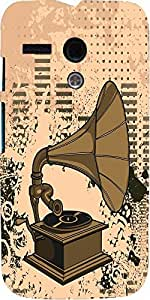 Snoogg Gramophone Music Case Cover For Motorola G / Moto G