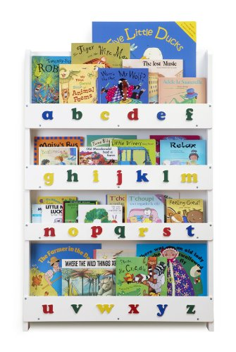 Tidy Books Children's Bookcase (White, Lowercase)