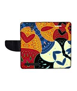 KolorEdge Printed Flip Cover For Asus Zenfone C -Multicolor (47KeMLogo11067ZenC)