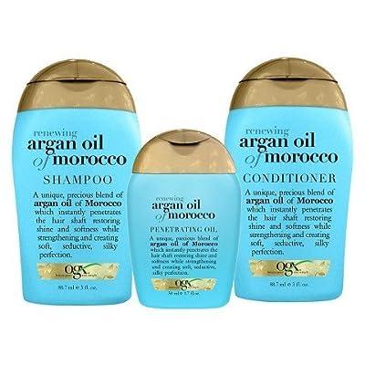 OGX Renewing Moroccan Argan Oil 3 Piece Starter Kit TRG
