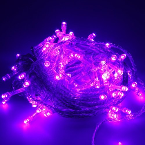 10M 100 Led String Fairy Light For Wedding Christmas Party Holiday(Purple With Tail Plug)
