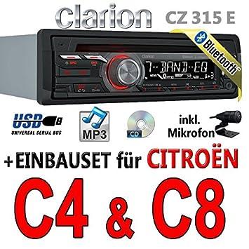 CITROËN c4-c8-autoradio clarion cZ315E avec bluetooth