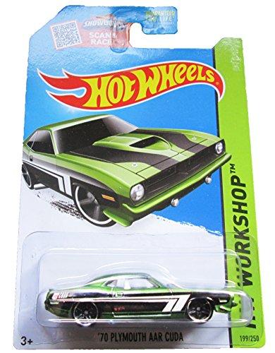 Hot Wheels, 2015 HW Workshop, '70 Plymouth AAR Cuda [Green] Die-Cast Vehicle #199/250 - 1