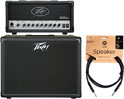 Peavey 6505 MH Mini Guitar Amplifier Head and 112-6 Guitar Enclosure and Cable (Peavey 6505 Head compare prices)
