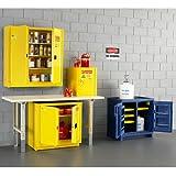 "EAGLE Polyethylene Acids/Corrosives Safety Cabinet - 18x18x22"" - 4-Gallon Capacity - White"