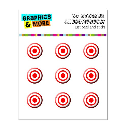 Graphics and More Target Home Button Stickers Fits Apple iPhone 4/4S/5/5C/5S, iPad, iPod Touch - Non-Retail Packaging - Clear