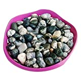 Stone Art Artificial Marble Pebbles (500 Gms, Zebra)