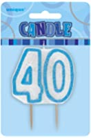 Unique 40Th Birthday Cake Candle Cake Decorations Doulbe Sided (Uq)