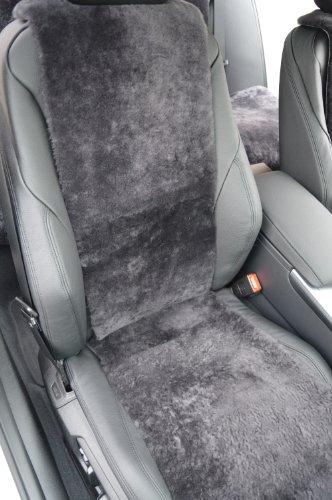 Autositz-Auflage aus Lammfell für Ledersitze 30cm Breite (Schiefer) Direkt vom Hersteller