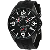 Torgoen Swiss Men's T16301 Aviation Chronograph Black Dial Polyurethane Strap Watch