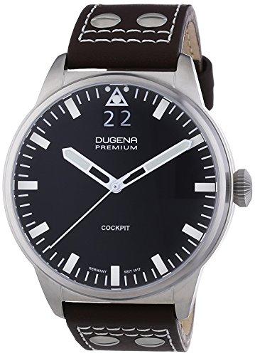 Dugena  Dugena Premium - Reloj de cuarzo para hombre, con correa de cuero, color marrón