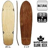 サーフスケート 31インチ デッキ 木目 無地 ナチュラル ブランク 100% メイプル スケートボード スケボー ロングボード SKATEBOARD BLANK DECK NATURAL