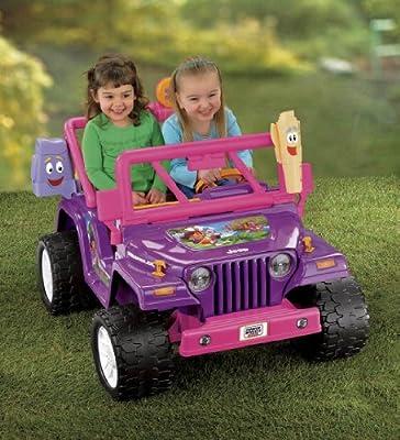 Power Wheels Dora the Explorer Jeep Wrangler, Purple/Pink by Fisher Price