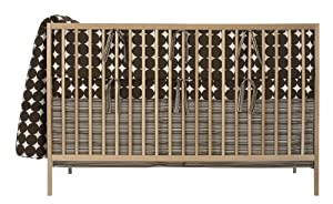 DwellStudio Baby Dots Crib Set, Chocolate
